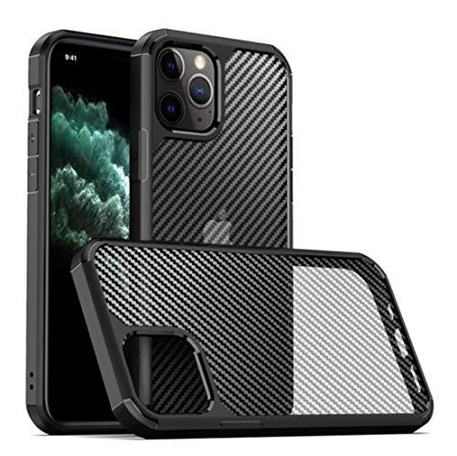 DMWMD para iPhone 11/11 Pro MAX Case - Cubierta de Parachoques con diseño de Fibra de Carbono a Prueba de Golpes - Marco rígido Delgado con Cubierta Protectora de cojín de Aire (Size : 11 Pro MAX)