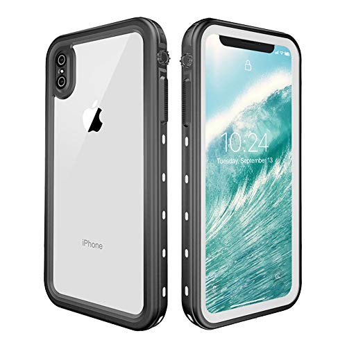 Redpepper Waterproof Case Cover for Apple iPhone Xs Max, Shockproof Snow DirtProof White
