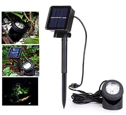 Solar Teich Beleuchtung,DINOWIN Unterwasser Lichter IP68 Wasserdicht Strahler für Garten Schwimmbad Teich Yard Landschaft Außendekoration
