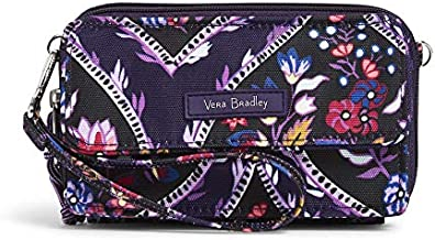Vera Bradley Lighten Up All in One Crossbody Purse with RFID Protection, Foxwood Meadow