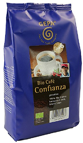 GEPA Confianza Bio Kaffee gemahlen - Reiner Bio Arabica - 1 Karton ( 10 x 500g )