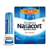 Nasacort, Children's Allergy 24HR Nasal Spray NonDrowsy AlcoholFree 60 Sprays, Blue, 0.37 Fl Oz