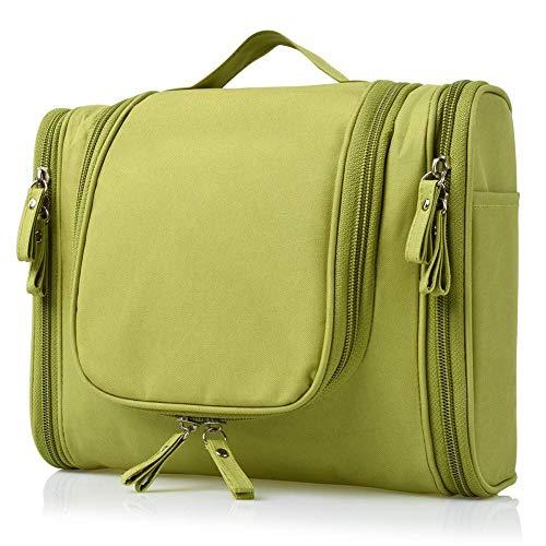 PETRICE Multifunctional Travel Bag Extra Large Makeup Organiser Cosmetic Case Household Grooming Kit Storage Travel Kit Pack with Hook (Green)