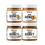 Apiterra - Sweet Gift - Honey Set Infused with Superfoods - includes Honey with Turmeric & Ginger, Cinnamon & Propolis, Lemon & Ginger, and Original Raw Honey (set of 4)