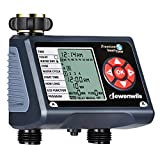 DEWENWILS Water Timer, Outdoor Sprinkler Garden Hose Timer Programmable with 2 Independent Controlled Outlets, Automatic Faucet Watering Timer for Yard Lawn Irrigation, Auto Manual Rain Delay ECO Mode