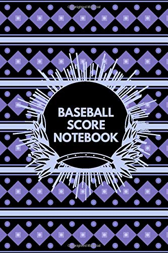 Baseball Score Notebook: Baseball Score Sheets, Baseball Score Pads, Scorekeeping Book, Scorecards, Record Scorekeeper Book Gifts for Baseball Team, ... with 110 Pages. (Baseball Scorebook, Band 33)