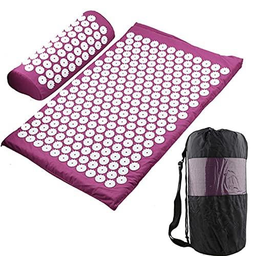 Zent Massager Cojín Masaje Yoga Mat Acupresión Aliviar el estrés Dolor de Espalda y Cuerpo Estera de púas Estera de acupuntura
