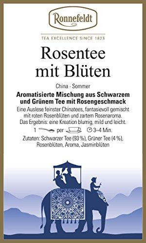 Ronnefeldt - Rosentee mit Blüten - Aromatisierter Schwarzer Tee - 100g