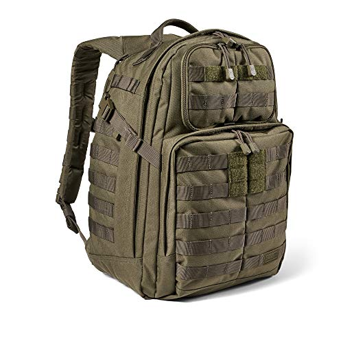 5.11 Tactical Backpack – RUSH24 2.0 – Military Molle Pack, CCW and Laptop Compartment, 37 Liter, Medium, Style 56563 – Ranger Green