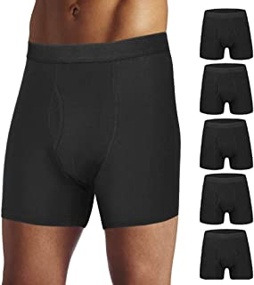 Mens Boxer Briefs Cotton Mens Underwear for Men Pack with Fly Pouch