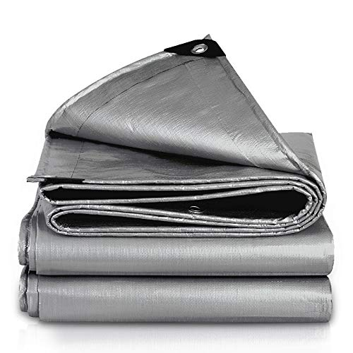 Patios Outdoor Waterproof Tarpaulin PE Sunscreen Tarpaulin Rainproof Cloth Thickened Sunshade Canopy Tarpaulin Wear-resistant (Size : 3m×4m)