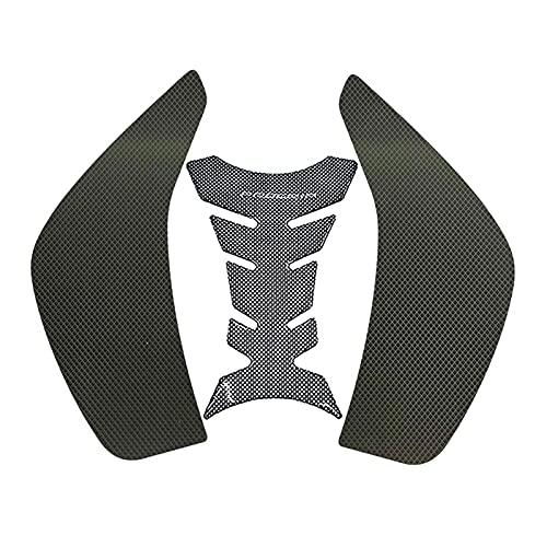 Para FZ1 FZ1N FZ1S 2006-2014 2015 Protector de motocicletas Anti deslizamiento Pad Pegatina Etiqueta engomada de la rodilla Gas Rodilla Transportación Tracción Lado Calcomanía (Color : 1 Sets)