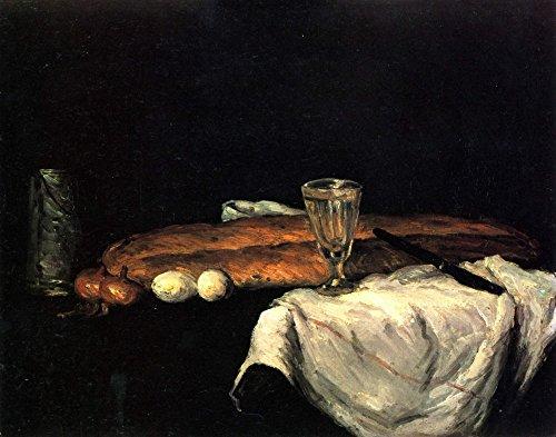 Het Museum Outlet - Stilleven met brood en eieren door Cezanne - Poster Print Online Kopen (60 X 80 Inch)