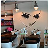 Ccfqiangtie Beauty Salon Decor Lange Wimpern Vinyl