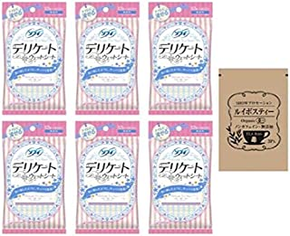 [セット品] ソフィ デリケートウェットシート 無香料 (6枚入×2コ) × 6点 + SHOWルイボスティー1袋