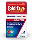 COLD-EEZE Sugar Free Wild Cherry Cold Remedy Lozenges, Natural Sugar Free Wild Cherry 25 Count