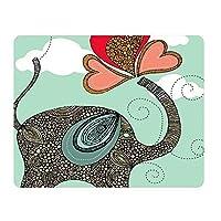 Personalized Unique Design Oblong Shaped Mouse Pad Elephant