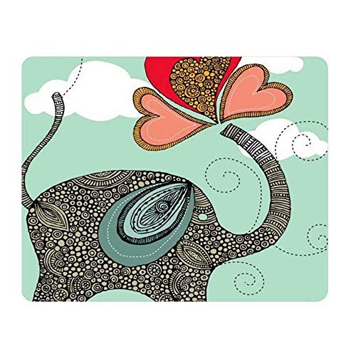 Personalized Unique Design Oblong Shaped Mouse Pad Elephant