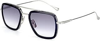 Spider Man Glasses Vintage Aviator Square Metal Frame for Men Women Sunglasses Classic Downey Iron Man Tony Stark Shades