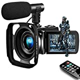 Camcorder Video Camera,Vlogging Camera for Youtube Camcorder Ultra HD 2.7K 16X Digital Zoom 3.0 Inch Touch Screen Support Pause Function & Time-Lapse