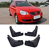 SHENYF Lodo 4pcs / Set del Coche de VW Flaps Guardabarros Guardabarros Guardabarros Guardabarros Aleta del Fango for Volkswagen Polo 4 IV 2003-2010 Accesorios de Coche
