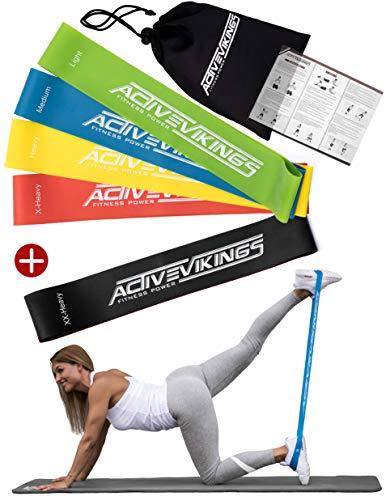 ideal para el desarrollo muscular Cinta de fitness de 20 metros con 3 grosores de ActiveVikings/® pilates yoga gimnasia cinta de gimnasia banda de resistencia fisioterapia
