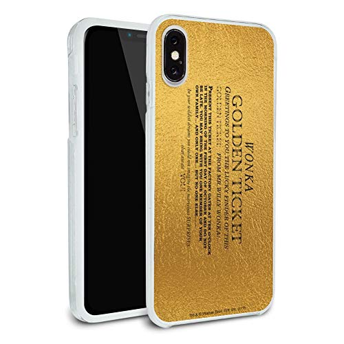 Willy Wonka and The Chocolate Factory Golden Ticket Protective Slim Fit Hybrid Rubber Bumper Case Fits Apple iPhone 8, 8 Plus, X, 11, 11 Pro,11 Pro Max