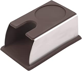 CCHAO Support robuste en acier inoxydable et silicone pour machine à café (Couleur : café)