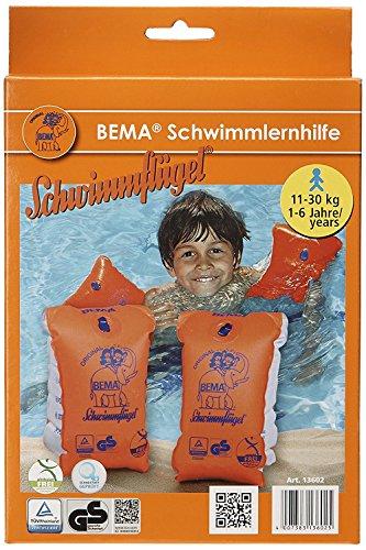 BEMA® Original Schwimmflügel, orange, Größe 0, 11-30 kg, 1-6 Jahre (2 Paar)