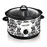 Crock Pot 4.5 Quart Manual Slow Cooker, Damask Pattern