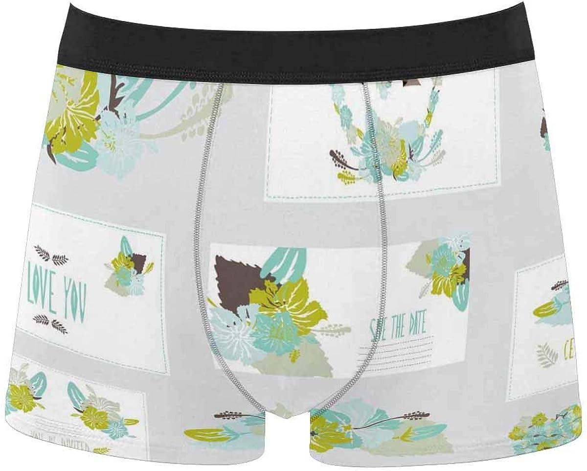 InterestPrint Adult Classic Comfort Boxer Briefs Yoga Shorts Underwear Easter Egg Hunt