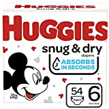 Huggies Snug & Dry Baby Diapers, Size 6, 54 Ct