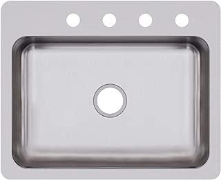 Elkay DSESR127224 Dayton Single Bowl Dual Mount Stainless Steel Sink