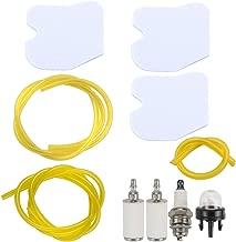 Kuupo 545061801 Air Filter with 6616 6617 Fuel Line Kit for Husqvarna 235 235E 236 236E 240 240E Chainsaw onsered CS2234 CS2238 CS2234S CS2238S Red Max GZ380