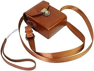 FIRST2SAVVV 褐色 Nikon COOLPIX A A900 S9900 P6000 Canon PowerShot SX710 HS Panasonic LUMIX DMC-TZ80 TZ100 ZS100 caiso EX-10 ...