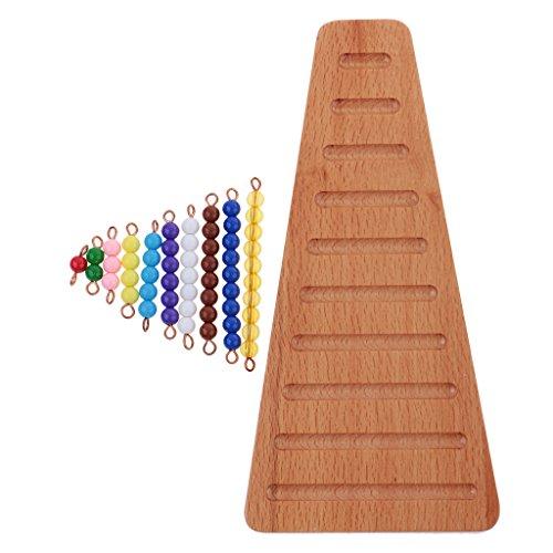 Montessori Mathematik 1-10 Perlen Bar Treppe Kinder Zählen Lernspie