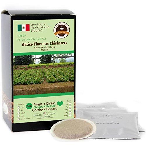 Kaffee Globetrotter - Kaffee Mit Herz - Mexico Finca Las Chicharras - 30 Premium Kaffeepads - für Senseo Kaffeemaschine - Spitzenkaffee Aus Mexiko Fair Gehandelt Unterstützt Soziale Projekte