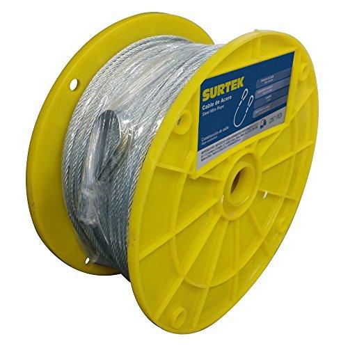 Surtek CA113 Cable Acero, 7x7 3/32'x75 m