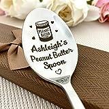 Cuchara de la mantequilla de cacahuet/cucharadita de encargo/regalo de Navidad personalizado/recuerdo de Stuffer de la media