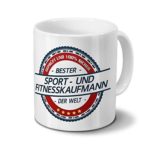 printplanet Tasse mit Beruf Sport- und Fitnesskaufmann - Motiv Berufe - Kaffeebecher, Mug, Becher, Kaffeetasse - Farbe Weiß