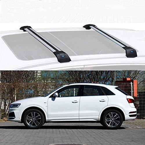 Mmhot Aleación de Aluminio Barras de Techo Barras de Techo de Carga de la Barra Cruzada Rack carriles de Montaje Holder Compatible con Q3 2013-19 (Size : For Audi Q3 2018)