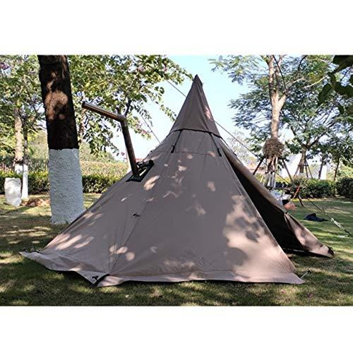 HDS Tienda de pirámide con un Agujero de la Chimenea / A6 S Torre de tamaño de la Ventana de Humo Tienda de Supervivencia Parque Capa Sola Tienda India Tienda Supervivencia Campo (Color : Kakahi)