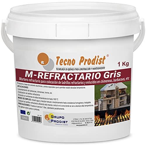 M-REFRACTARIO GRIS de Tecno Prodist - (1 kg) Mortero refractario especial para ladrillos...