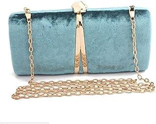 TMXOWB Fashion Clutch Bag For Women Personality V Shape Metal Evening Bag Lady Chain Handbag Shoulder Bag Wedding Bridal Purse