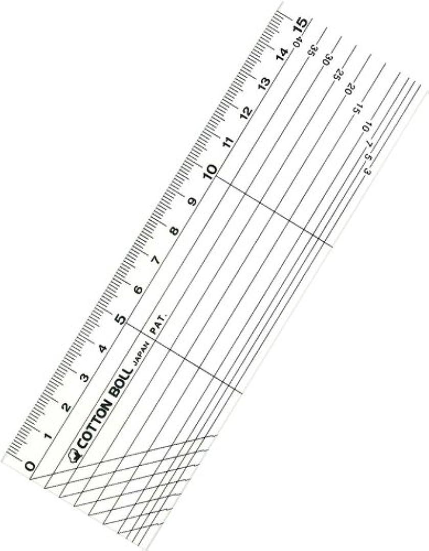 考慮罪人名義で金亀糸業 [COTTON BOLL] スケール 15cm 黒