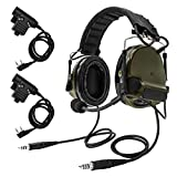 TAC-SKY COMTA III Double Plugs Tactical Headset,Ear Protection,Sound Amplification for Airsoft Sport