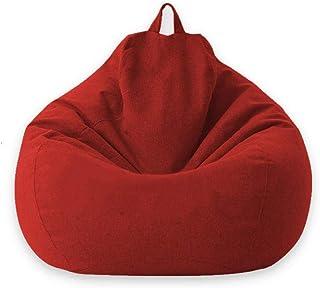 YAUTI Pufs para Sala De Estar Sofás Cubren Sillas Sin Relleno Tumbona Asiento Puf Puf Asiento Sofá Tatami Muebles De Sala-01 Rojo_L 100 X 120 Cm