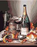 Kits de pintura por números para adultos y niños Bricolaje Pintura al óleo Digital Bebidas y comida - Lienzo Arte de la pared Decoración del hogar