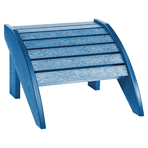 C.R. Plastic Products CRP Generations Classic Adirondack Fauteuil Repose-Pieds: Blue