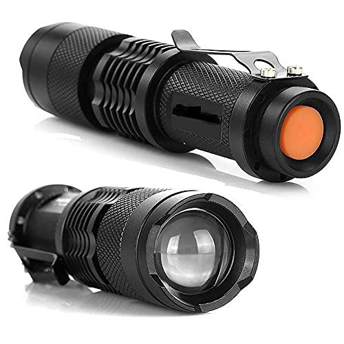 Linterna LED - Potentes Antorcha De Mano, 3Modos, Zoomable, Lmpermeable,Para Ciclismo Camping Montañismo